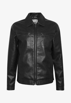 STEFAN JACKET - Faux leather jacket - black