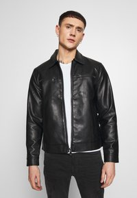 Redefined Rebel - STEFAN JACKET - Jacka i konstläder - black - 0