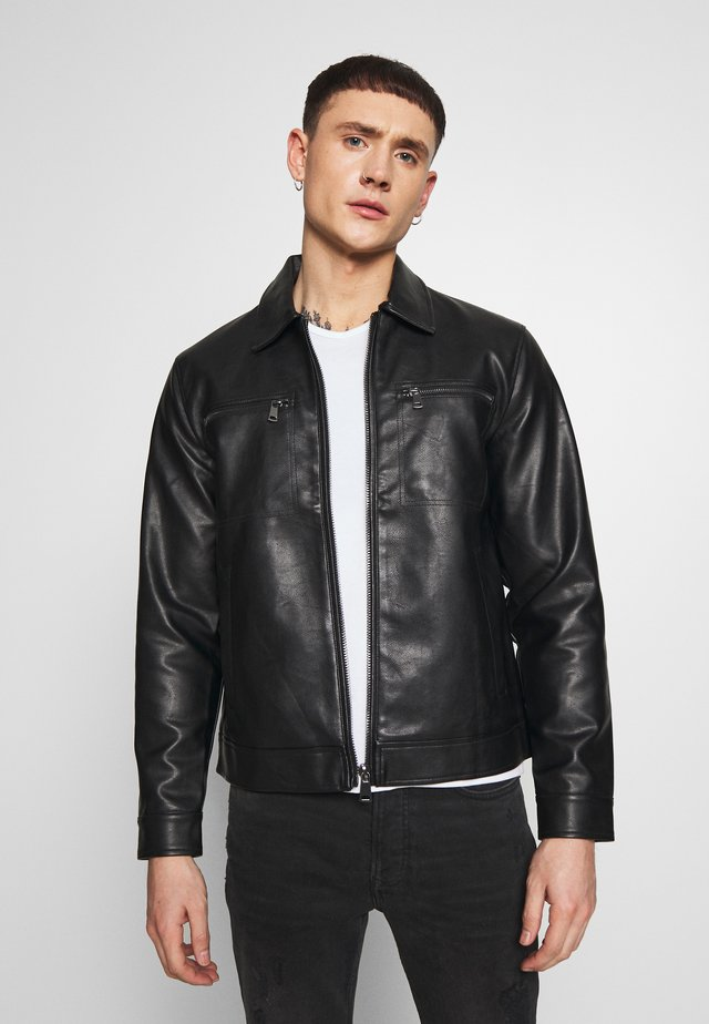 STEFAN JACKET - Giacca in similpelle - black