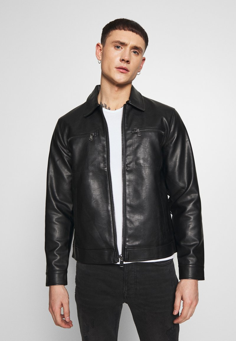 Redefined Rebel - STEFAN JACKET - Jacka i konstläder - black