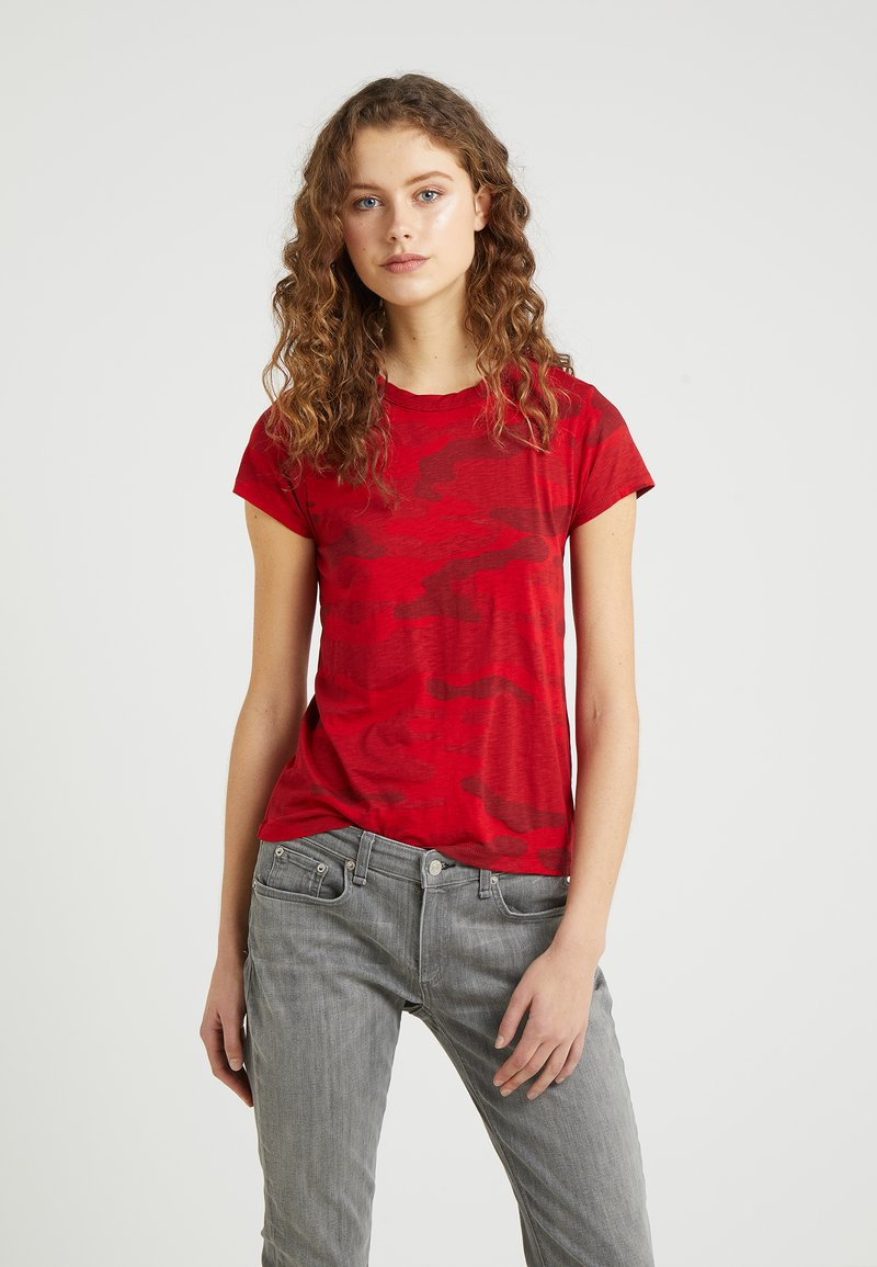 rag & bone - TEE - T-shirt imprimé - red