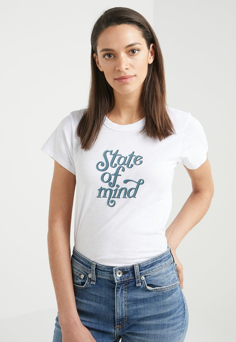 rag & bone - STATE OF MIND - T-Shirt print - white