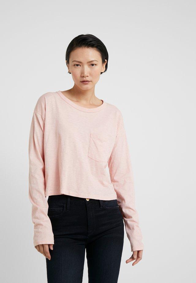 THE CROPPED - Pitkähihainen paita - pink rose