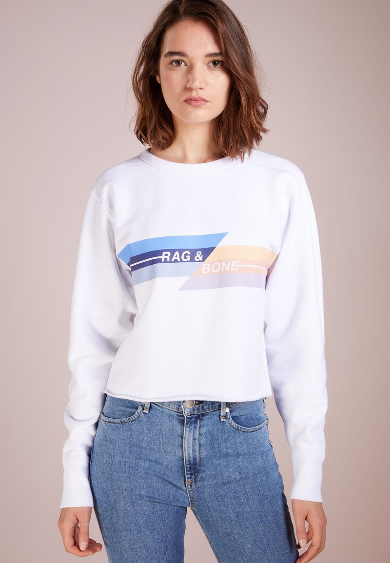 rag & bone - GLITCH - Sweatshirt - white