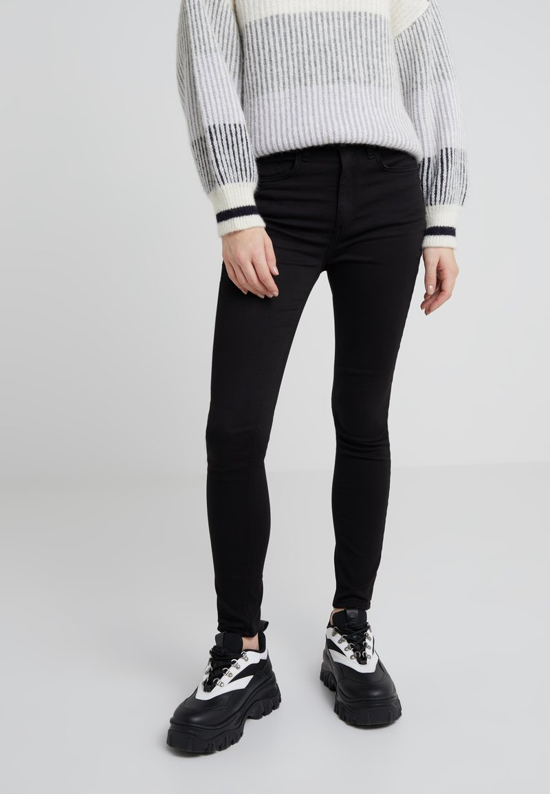 rag & bone - HIGHRISE ANKLE - Jeans Skinny Fit - black