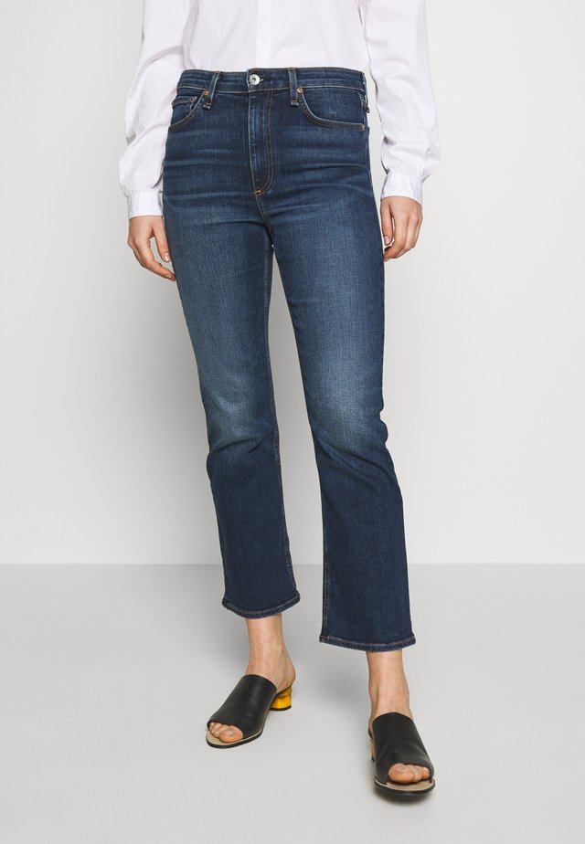 NINA ANKLE FLARE - Flared jeans - blue denim