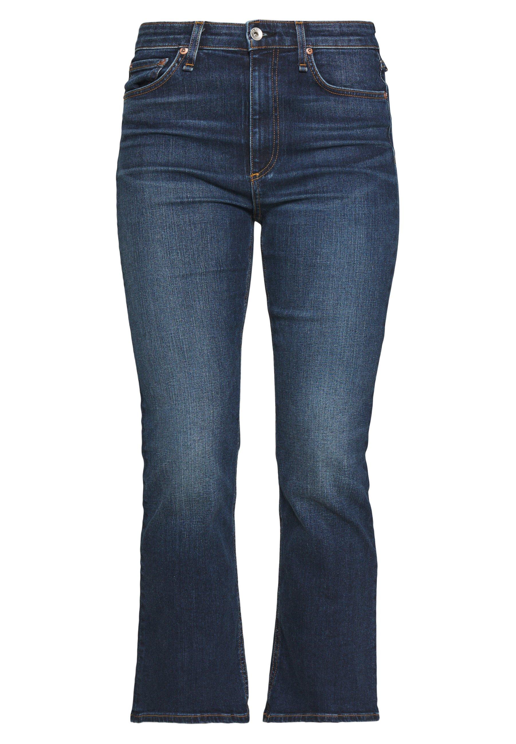 Rag & Bone Nina Ankle Flare - Flared Jeans Blue Denim