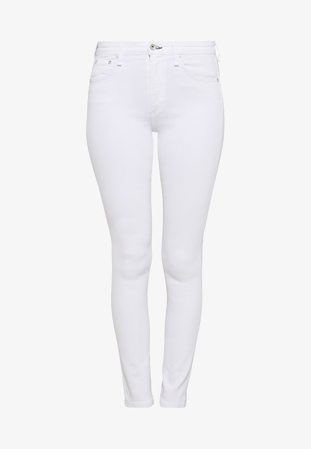 CATE MID RISE - Jeans Skinny Fit - white denim