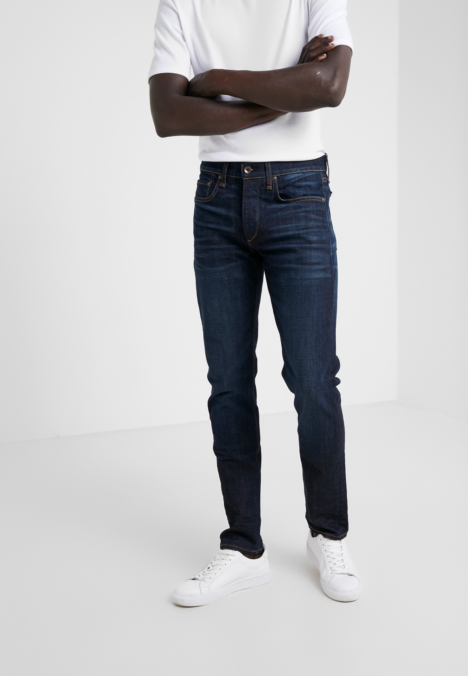 rag & bone Slim fit jeans dark french blue Zalando.nl