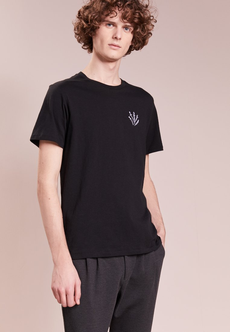 rag & bone - DAGGER EMBROIDERY  - T-Shirt basic - black