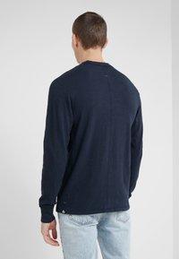 rag & bone - CLASSIC HENLEY - Bluzka z długim rękawem - deep navy - 2
