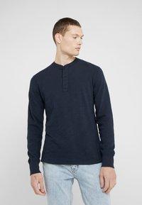 rag & bone - CLASSIC HENLEY - Bluzka z długim rękawem - deep navy - 0