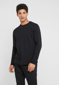 rag & bone - HUNTLEY TEE - Bluza rozpinana - black - 0