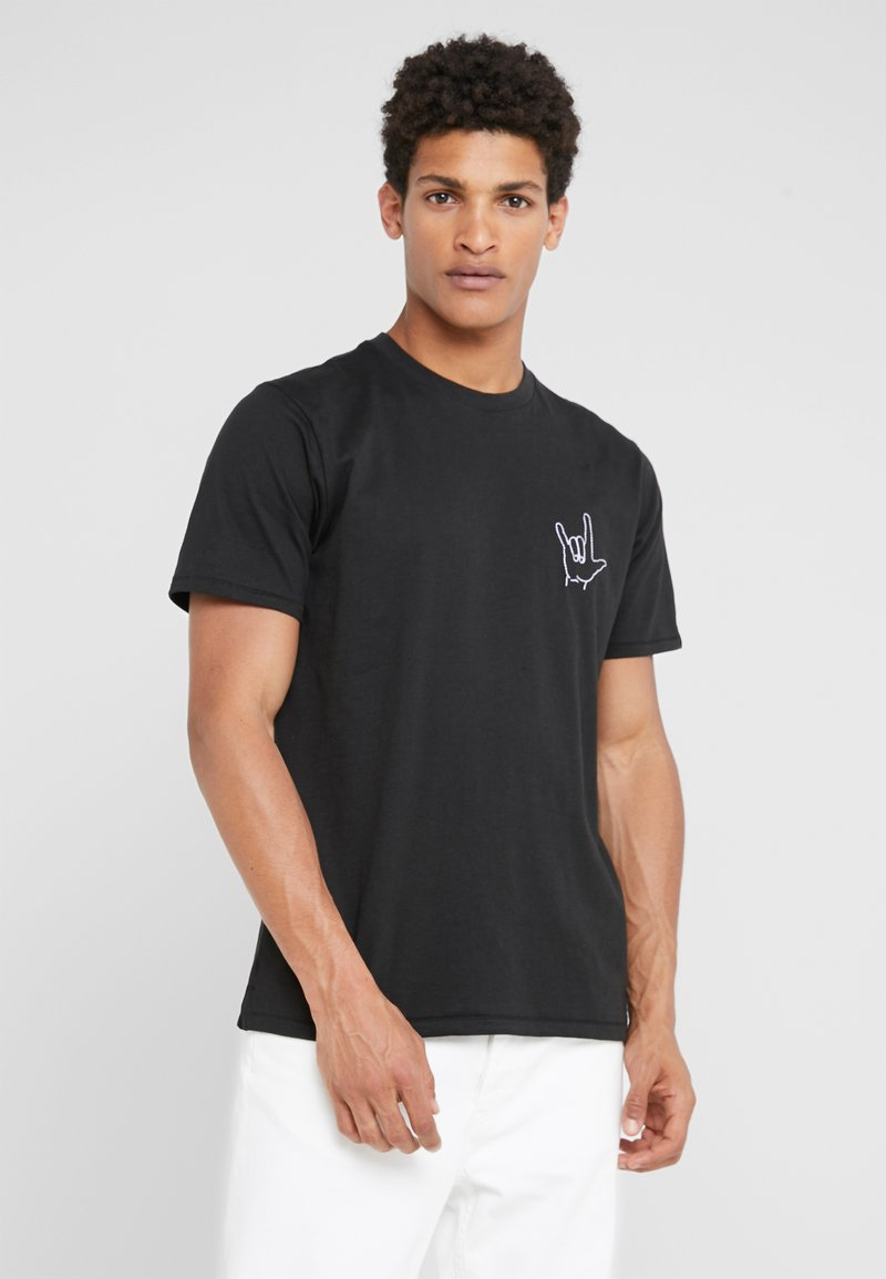rag & bone - LOVE HAND TEE - T-shirt imprimé - black