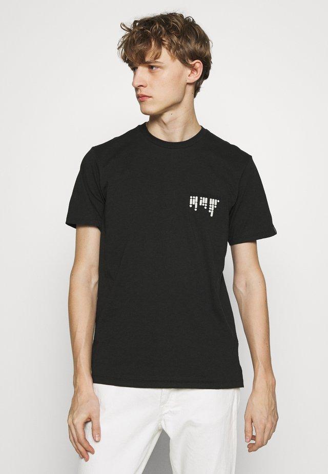 MORSE CODE TEE - Print T-shirt - black
