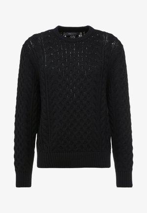 ARAN CREW - Pullover - black