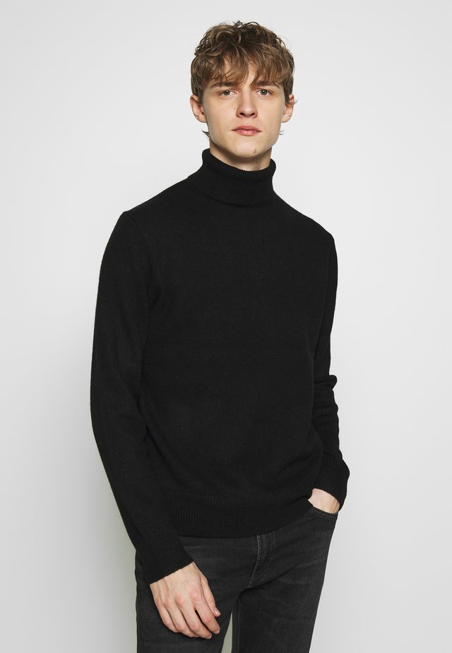 HALDON CASHMERE TURTLENECK - Trui -  black