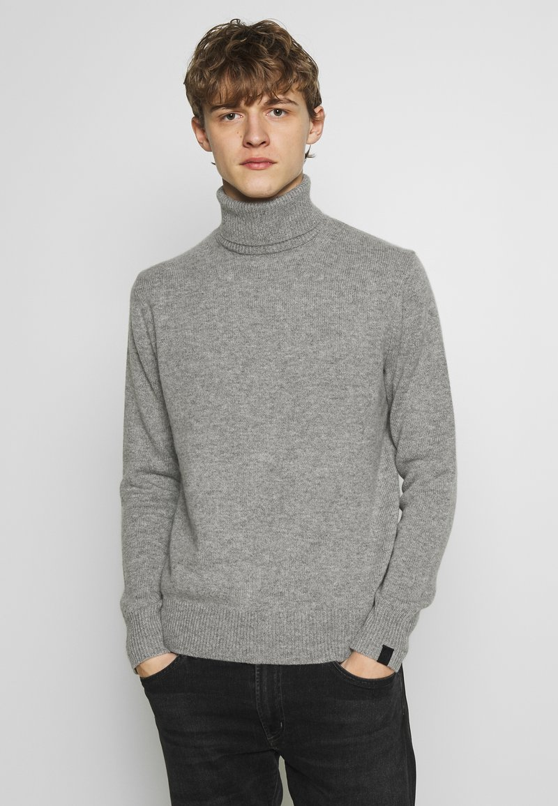 rag & bone - HALDON CASHMERE  TURTLENECK - Sweter - mottled grey