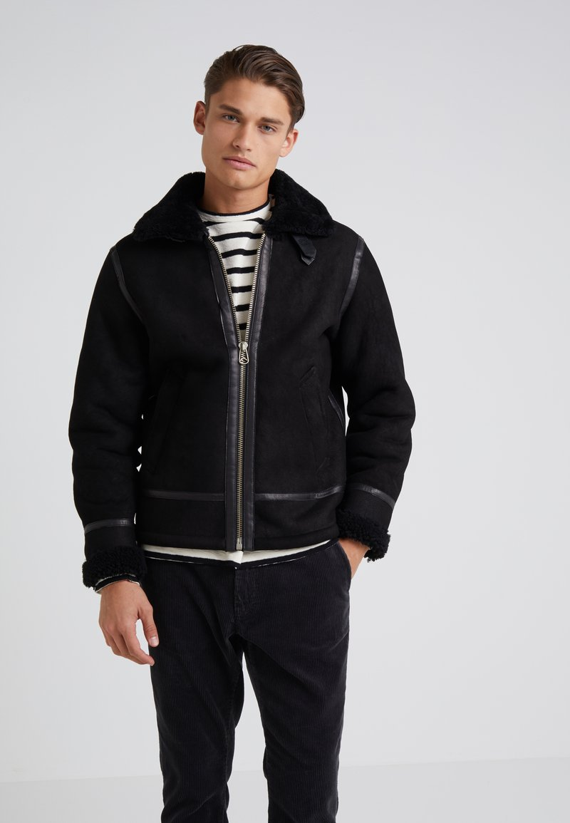 rag & bone - FLIGHT JACKET - Leather jacket - black