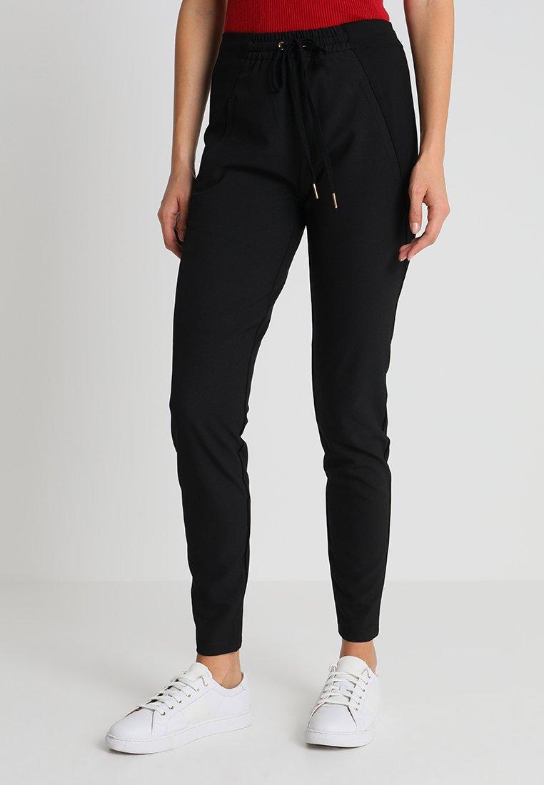 Rue de Femme - NEW COLUMBINE PLAIN - Trousers - black