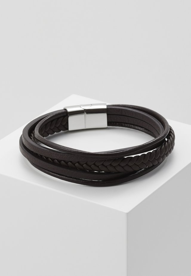 BRACELET - Armband - brown/silver-coloured