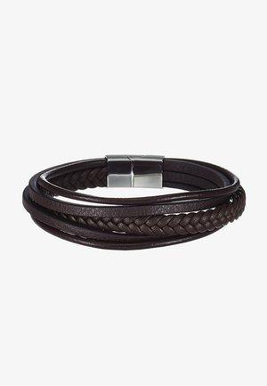 BRACELET - Armband - brown/silver-coloured
