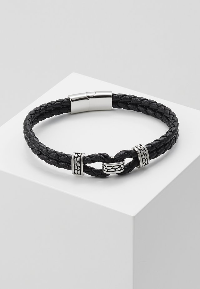 BRACELET - Armband - black/silver-coloured