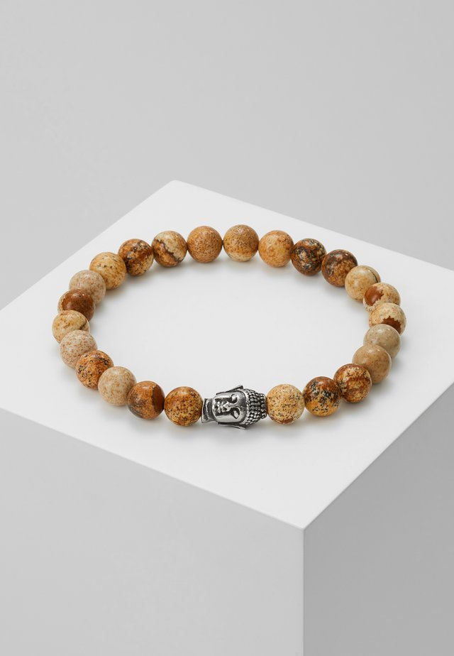 BRACELET BUDDHA - Armband - brown/silver-coloured