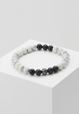 BEAD BRACELET CIRCLE - Náramek - black/white