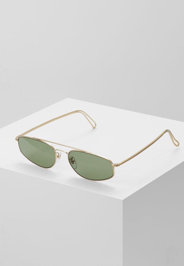 TEMA - Sonnenbrille - gold-coloured/green