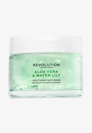 REVOLUTION SKINCARE ALOE VERA & WATER LILY SOOTHING FACE MASK - Masque visage - -