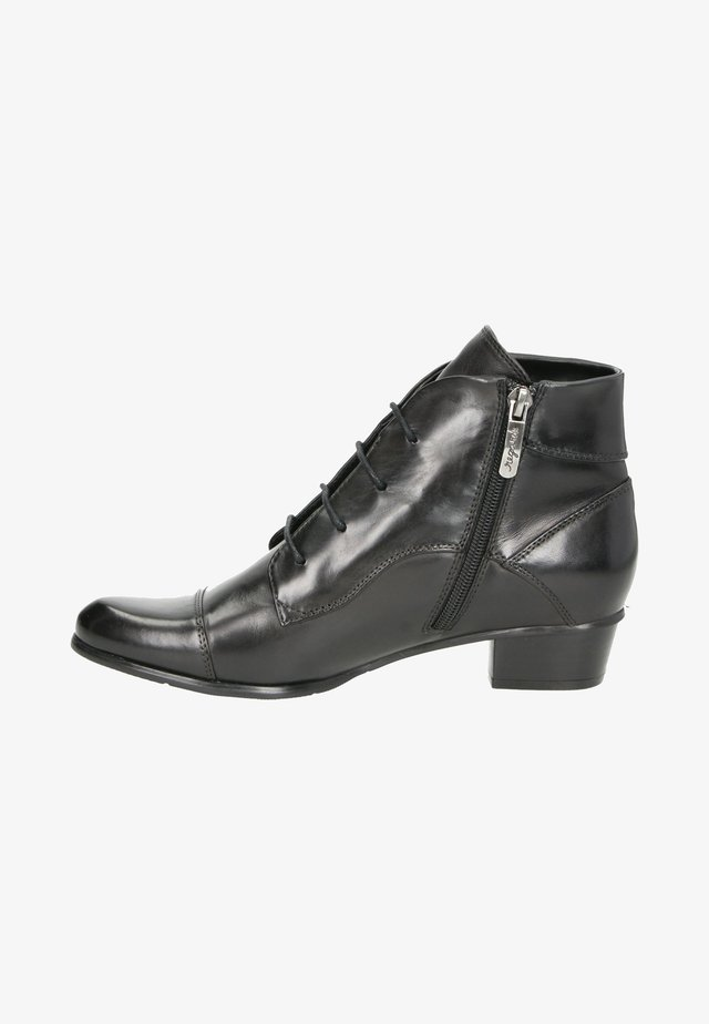 Lace-up ankle boots - zwart