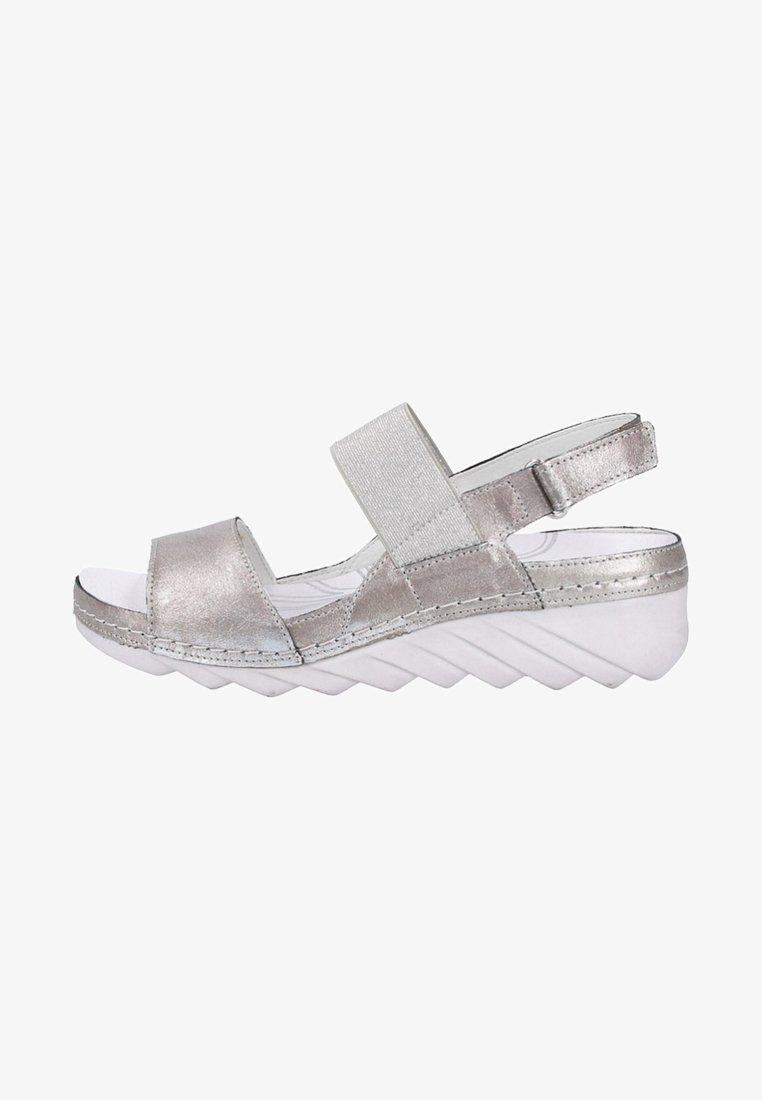 Romika - Wedge sandals - silver