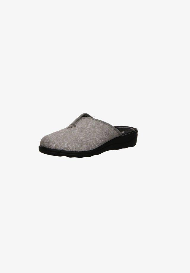 Slippers - hell-grau