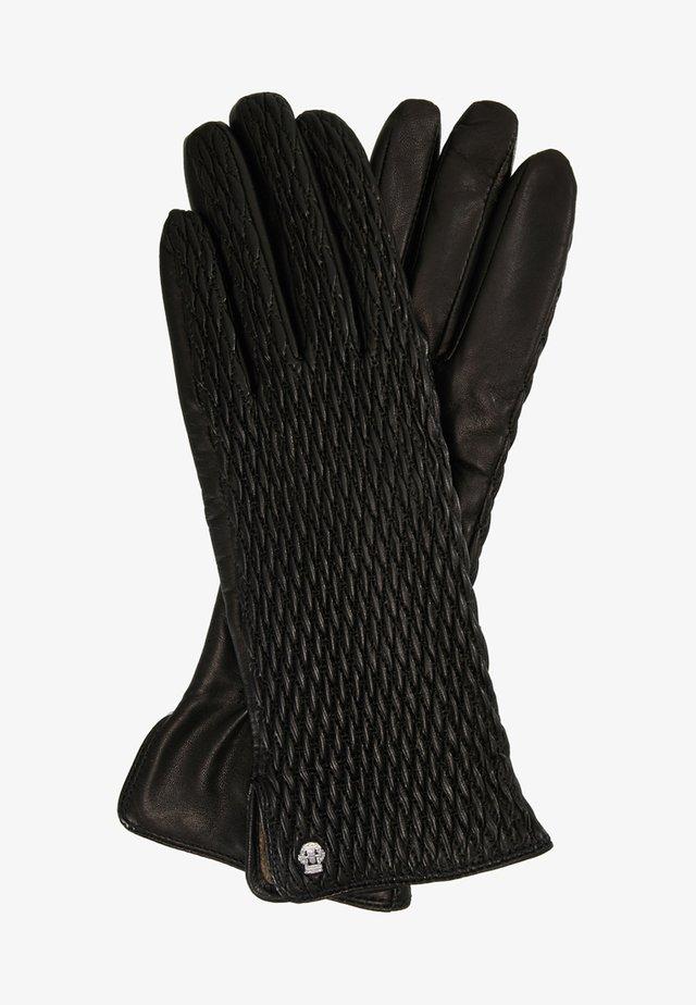 CHIC RUFFLE - Gloves - black