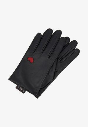 HEARTS - Gloves - black
