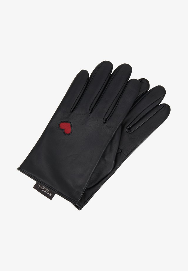 HEARTS - Fingerhandschuh - black