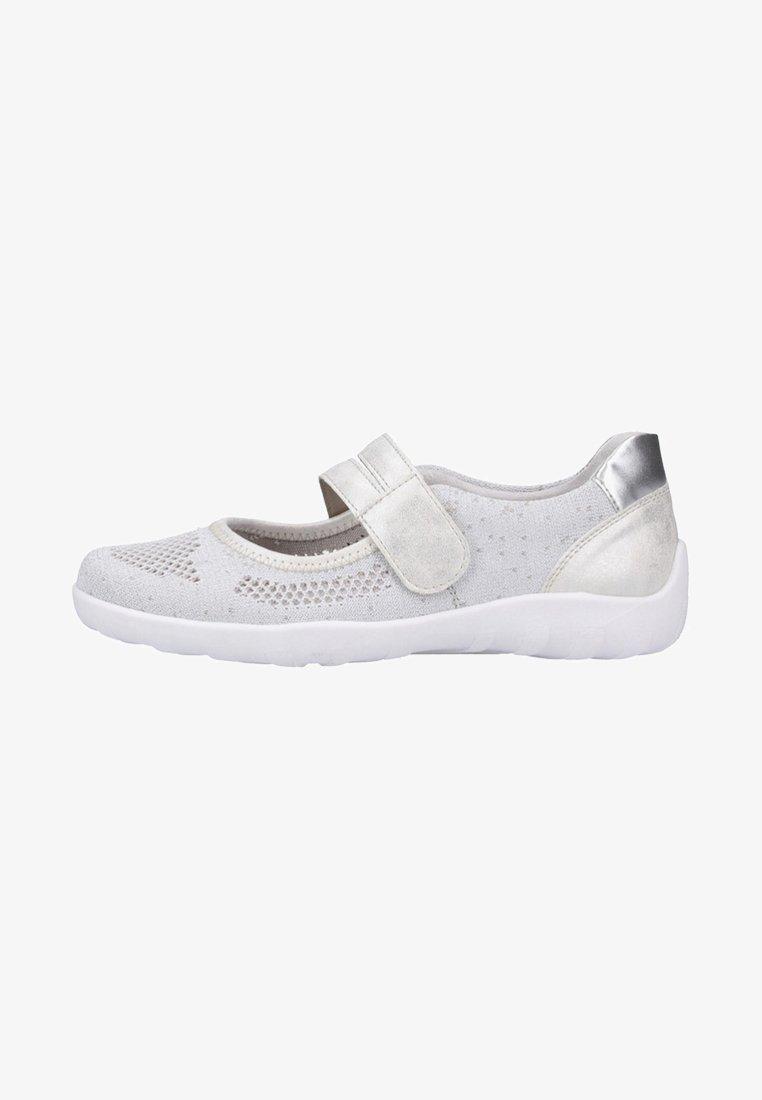 Remonte - Ankle strap ballet pumps - white/silver