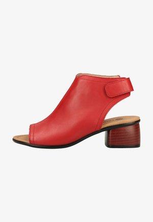 Sandalen met enkelbandjes - rosso