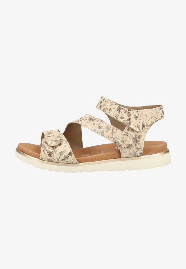 Walking sandals - beige metallic