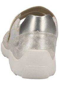 Remonte - REMONTE SLIPPER - Ankle cuff ballet pumps - light grey - 3