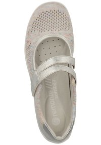 Remonte - REMONTE SLIPPER - Ankle cuff ballet pumps - light grey - 1