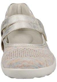 Remonte - REMONTE SLIPPER - Ankle cuff ballet pumps - light grey - 6