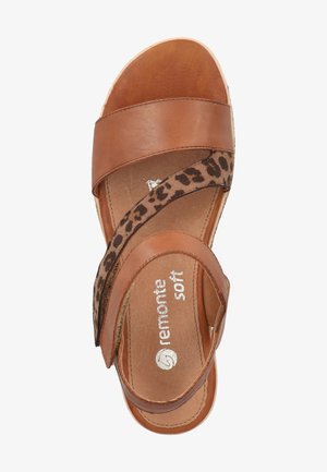 Wedge sandals - muskat/loam 1