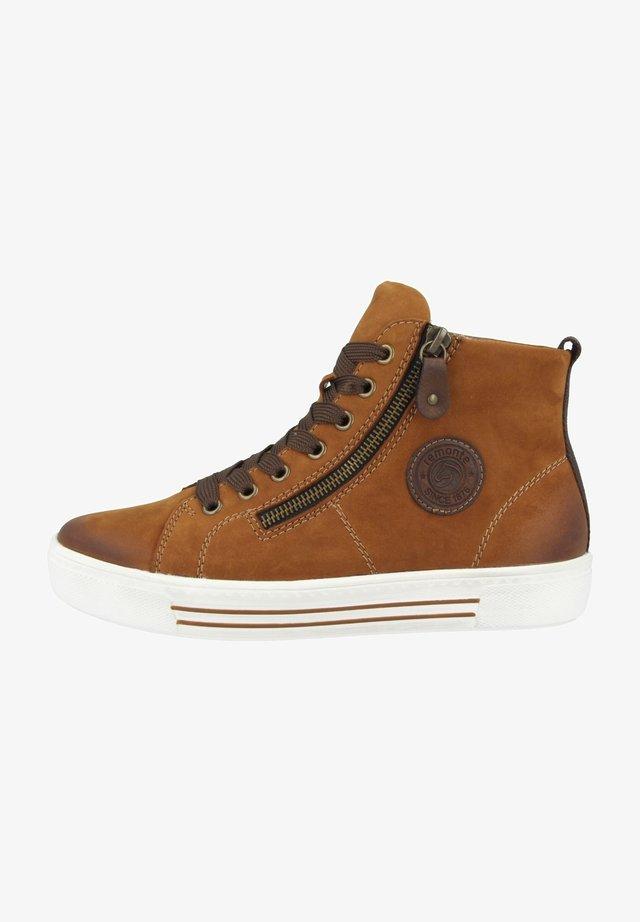 Sneakersy wysokie - brown (d0972-22)