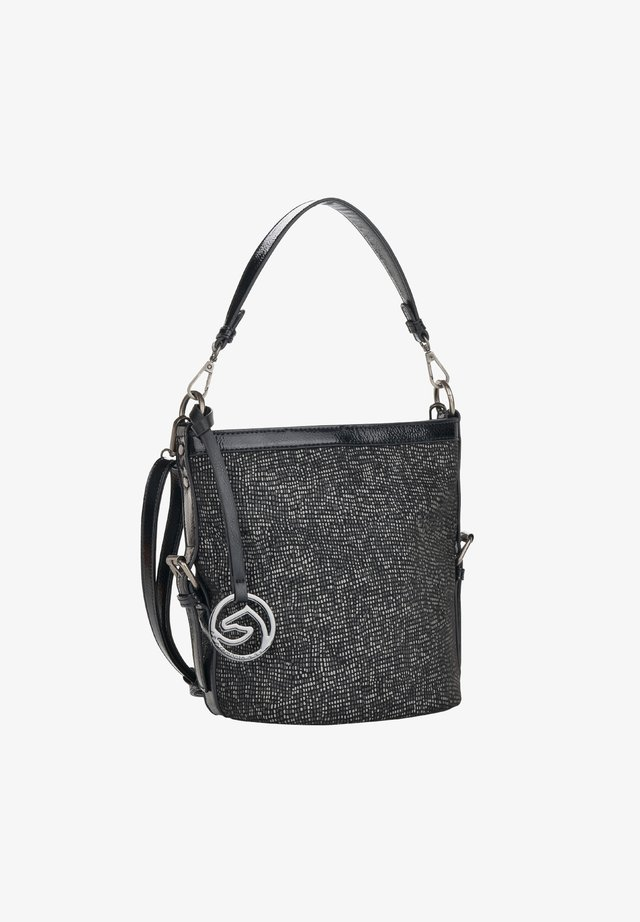 Handbag - black-white bronze (q0446-02)