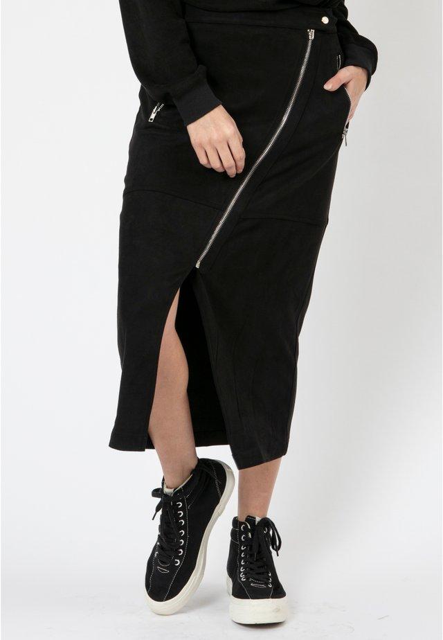 TAURUS  - Pencil skirt - jet black