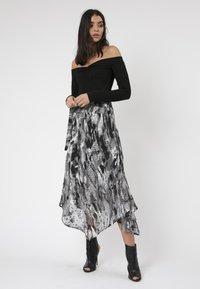 Religion - TITAN MIDI SKIRT - Maxi skirt - black - 1