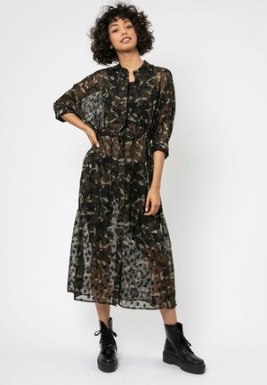 DUSK - Shirt dress - mottled dark green