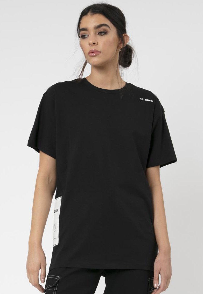 Religion - PLAIN TEE - Print T-shirt - black